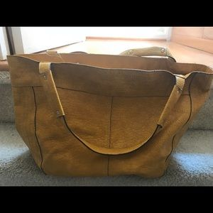 Jessica Simpson Yellow Shoulder Tote Bag